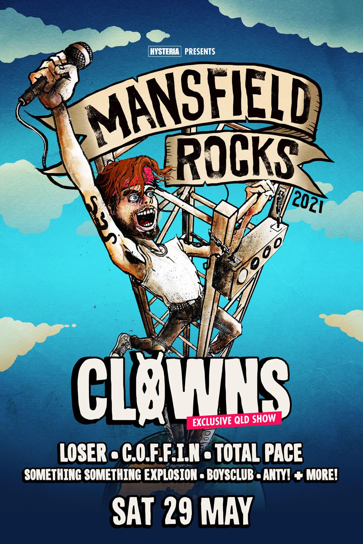 Mansfield rocks 2021 Sat 29th May