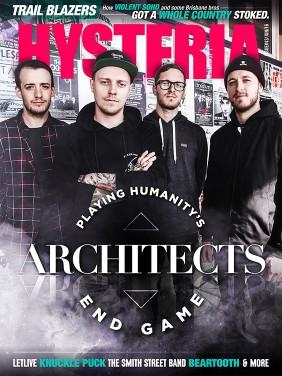 Hysteria 43 cover stars Architects