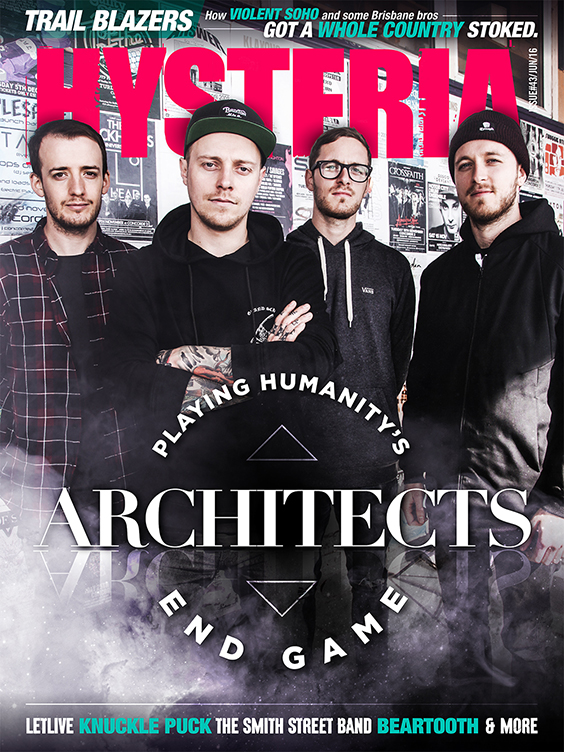 Hysteria 43 cover stars Architects