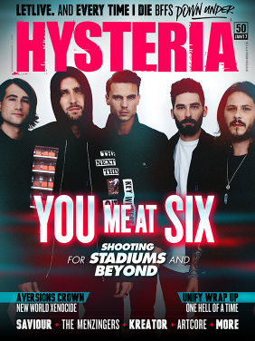Your Me At Six Cover Stars of Hysteria Issue 50