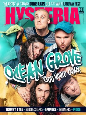 Ocean Grove cover stars of Hysteria #51