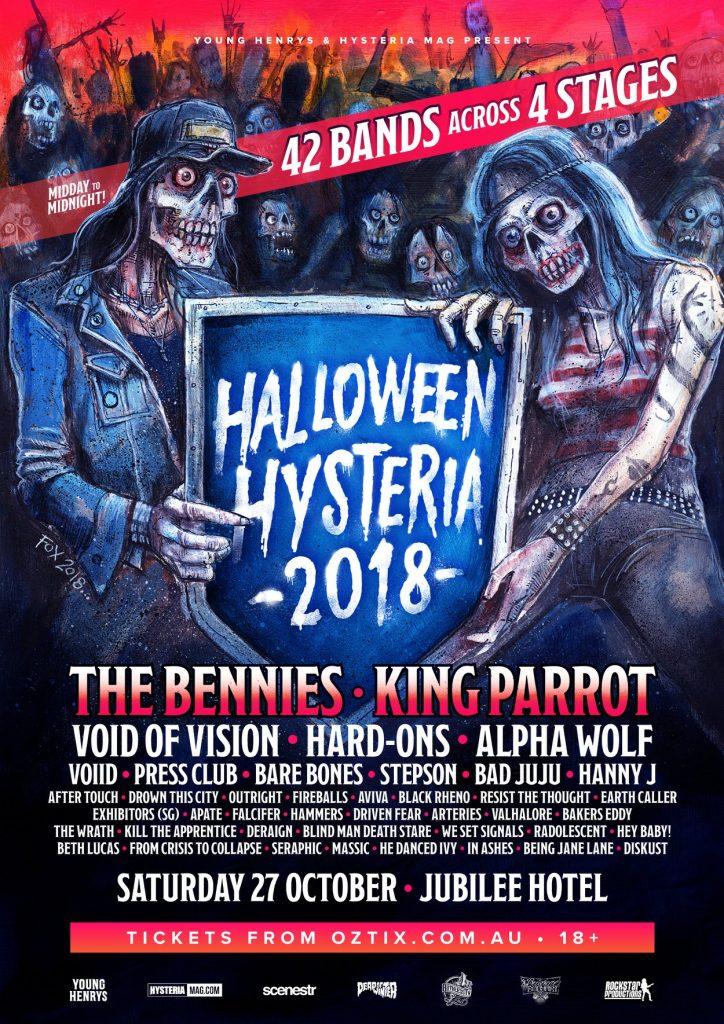 The Bennies will headline Halloween Hysteria 27 October