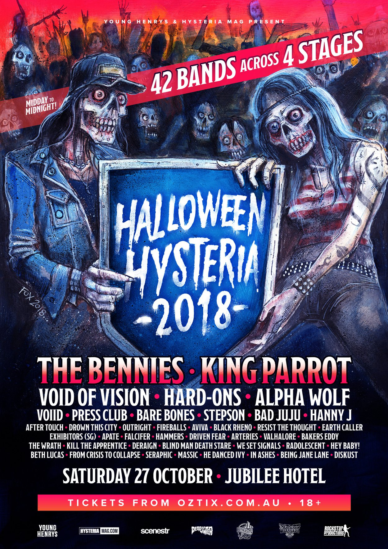 The Bennies will headline Halloween Hysteria 27 October