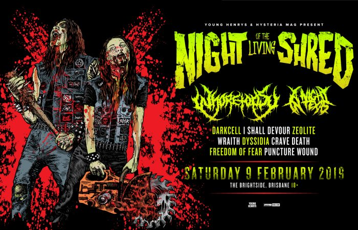 NIGHT OF THE LIVING SHRED // A Gathering Of Australia's Bloodthirstiest Metal