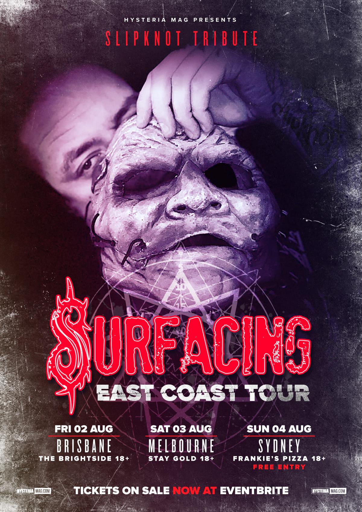 Surfacing (Slipknot Tribute) East Coast Tour