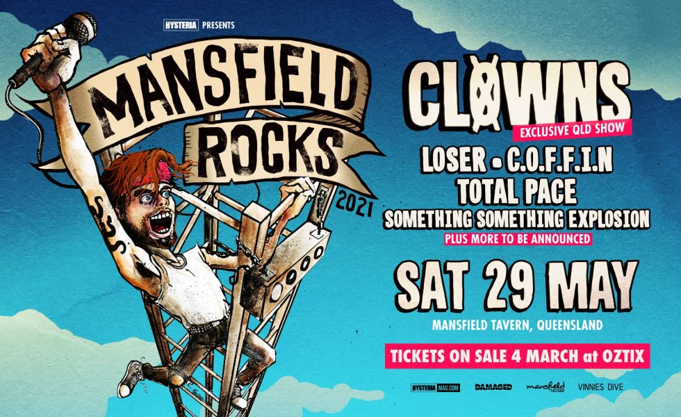 MANSFIELD ROCKS! // Bringing Back Riffs, Sweat & Beer To Brisbane This May!